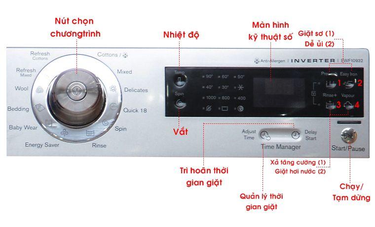 Sơ đồ điều khiển máy giặt Electrolux EWF10932
