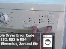 Bảng mã lỗi của máy giặt Electrolux P2