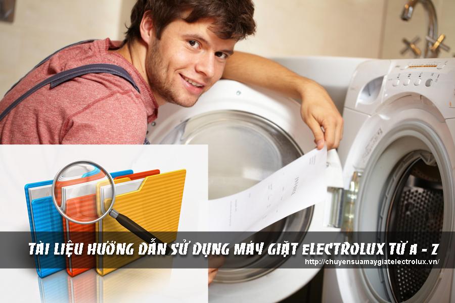 Hướng dẫn sử dụng máy giặt electrolux