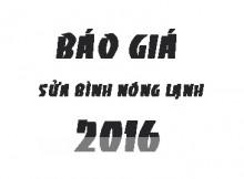 Báo giá sửa bình nóng lạnh tại Hà Nội 2016
