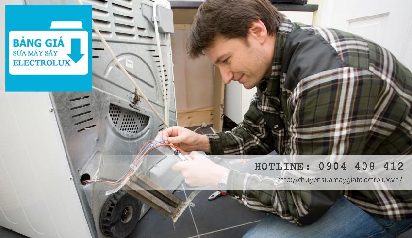 Giá dịch vụ sửa máy sấy Electrolux