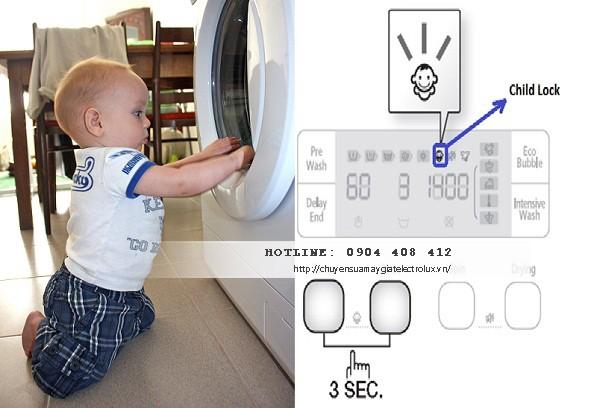 Máy giặt Electrolux bị khóa