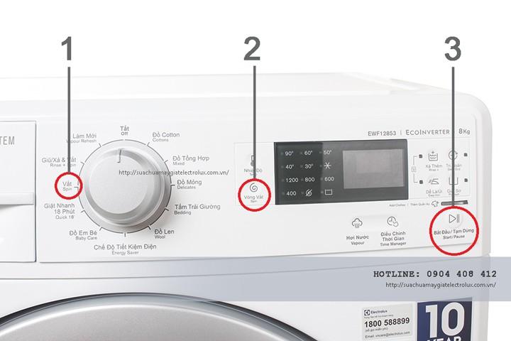 Chế độ vắt của máy giặt Electrolux ở máy có đồng hồ điều khiển