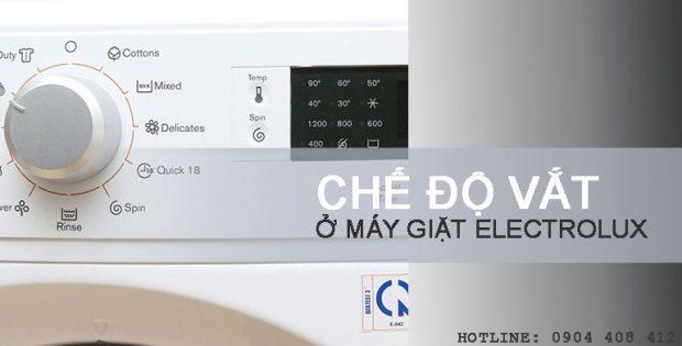 Chế độ vắt của máy giặt Electrolux
